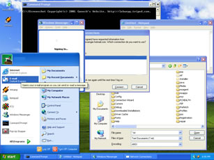 Windows XP Desktop Screenshot (Click to view full 158KB)